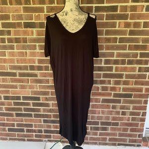 Zenana Outfitters black cut out dress